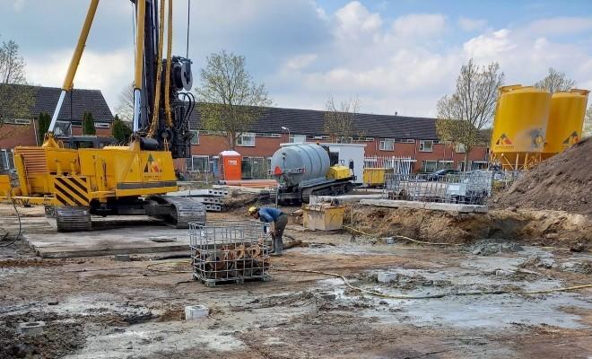 Innovatief fundering-systeem Parkwoningen Hoogeveen