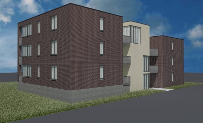 Start bouw 12 appartementen Buitenweg/Van Schaikweg te Emmen