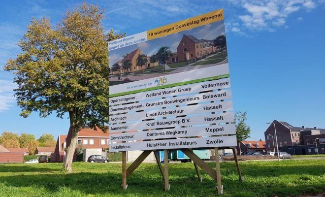 Start bouw 19 woningen Wheeme-Doeveslag te Vollenhove