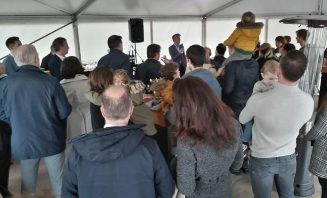 Feestelijke start bouw Lanenrijk fase 1B1 Weespersluis te Weesp